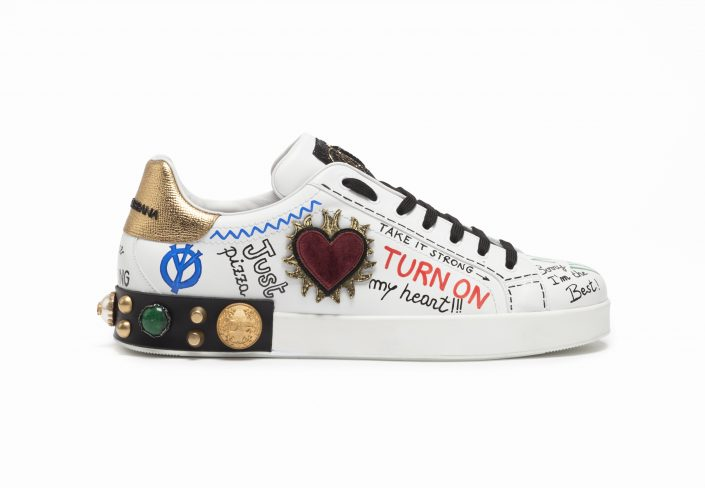 DOLCE&GABBANA - The #DGSneakers are now available for pre-order online! With colourful graffiti and studs, Dolce&Gabbana sneakers are the must-have items for this season! Comes in both Men's and Women's version