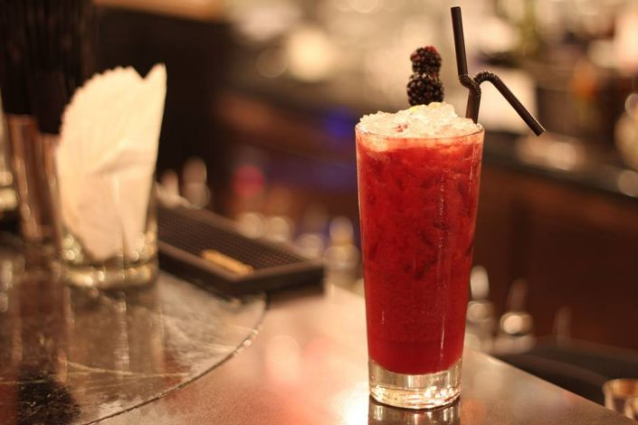 LE BOUDOIR – On Valentine's Day, try this playful pick featuring Tito's vodka, creme de mure, creme de cassis, raspberry, blackberry, lemon and fresh apple juice, this fruity tipple is a great choice for those with a sweet tooth. B/F 65 Wyndham Street, Central